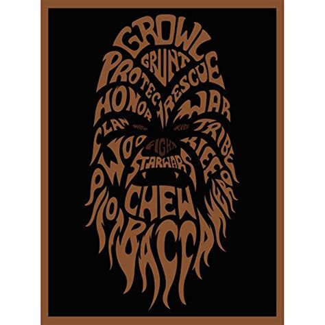 typographic star wars prints featuring iconic characters star wars posters with chewbacca wookiees walt art