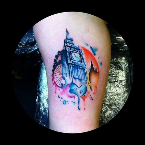 tom petucco s latest watercolor tattoo is a piece of art