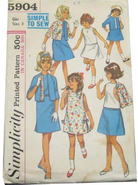 dress pattern no zip sixties sewing pattern 60s simplicity pattern no 5904