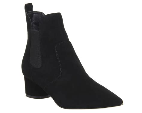 womens kendall logan chelsea boots black suede