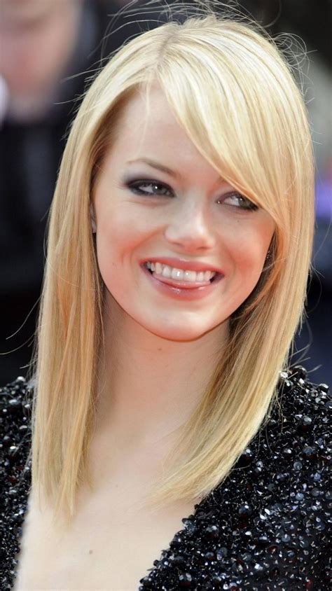 blonde haircuts for round faces 12 side bangs long layers hairstyles for round faces