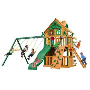 tree swing home depot gorilla playsets chateau clubhouse treehouse swing set