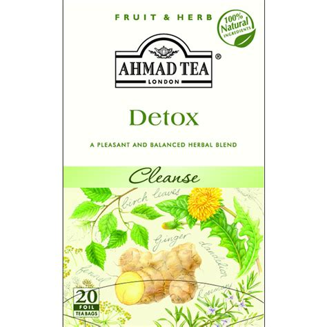 Herbal Tea For Detox by Sadaf Herbal Cleansing Detox Infusion Foil 20 Tea Bags