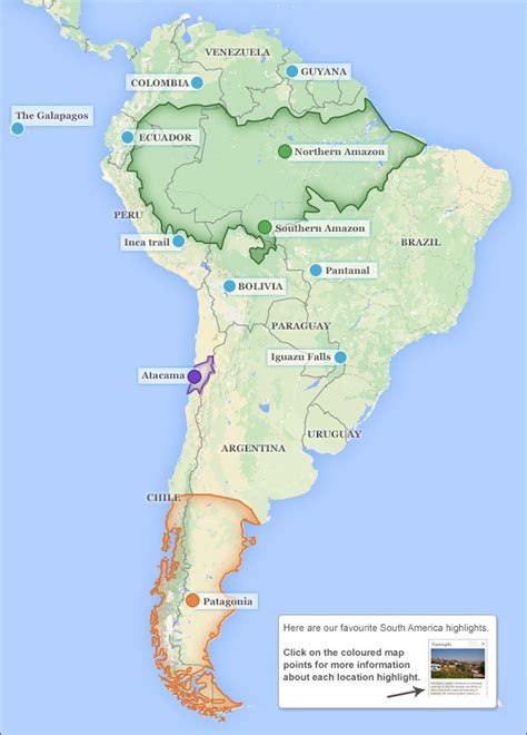 america map deserts places to visit in south america suggested places to