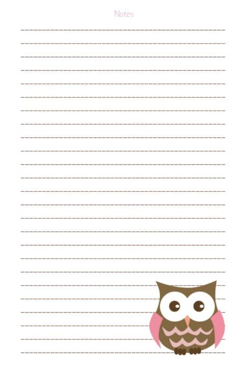 free printable owl letterhead 29 best free printable stationary images on pinterest