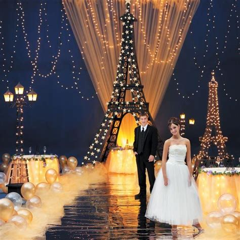 gold homecoming themes a night in paris theme graduation prom theme ideas