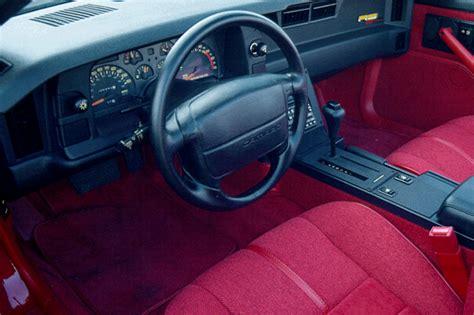 1992 camaro interior 1990 92 chevrolet camaro consumer guide auto