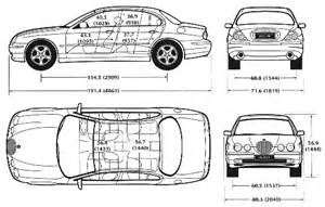 Jaguar Dimensions Auto Jaguar S Type Bild Bild Zeigt Abbildung Zeichnungen