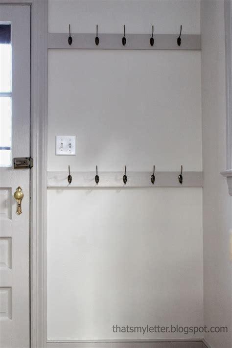 letter   install mudroom hooks