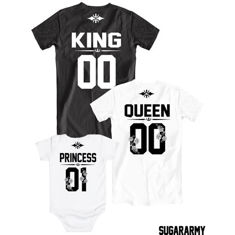 The Tshirt 01 king princess 01 t shirts custom number sugararmy