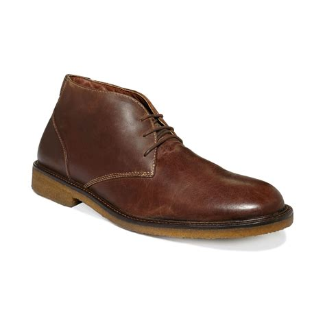 johnston and murphy mens boots johnston murphy copeland chukka boots in brown for