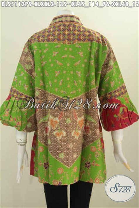 Supplier Baju Jawa Tengah toko baju baju batik khas jawa tengah jual blus kerah kartini lengan balon exclusive buat