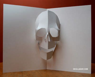 paper pop up card templates pop up skull template pdf pop up origima and other