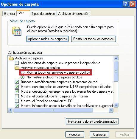 ver imagenes ocultas windows 7 ver archivos o carpetas ocultas en windows disco duro de