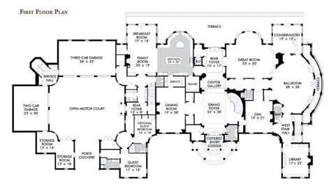 Blueprints For Mansions Floorplans Homes Of The Rich The 1 Real Estate