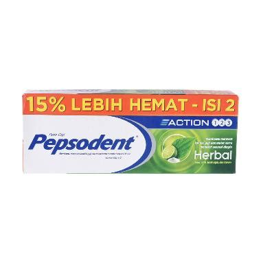 Pasta Gigi Pepsodent Herbal jual pepsodent 123 herbal toothpaste value pack 2