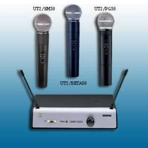 Mic Shure Wireless Ut24 Ungu Coper Microphone Shure Wireless shure ut24 uhf wireless handheld system beta58 vg planet dj