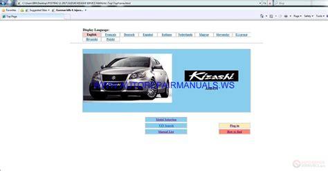 car repair manuals online free 2010 suzuki kizashi user handbook auto repair manuals suzuki kizashi a6b424 sevice manual