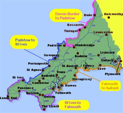 map uk beaches visiting cornwall guide