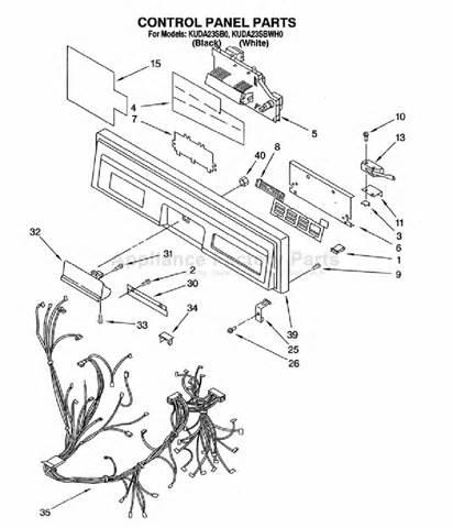Kitchenaid Dishwasher Parts Store Parts For Kuda23sbwh0 Kitchenaid Dishwashers
