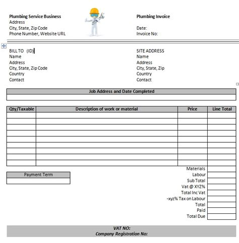 plumbing invoice template 14 free plumbing invoice templates demplates