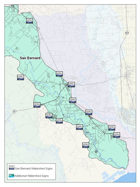 bernie texas map san bernard river watershed protection plan houston galveston area council h gac