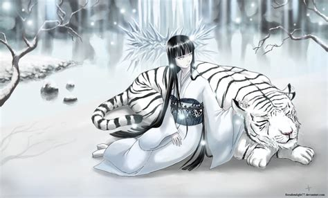anime wallpaper tiger the snow lady and the tiger wallpaper and background image