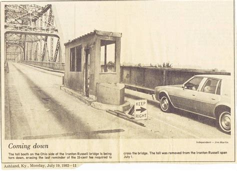 steamboat zanesville ohio toll booth on the ironton russell bridge ironton oh the
