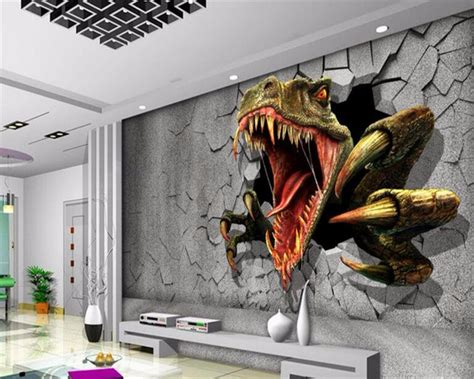 wallpaper for walls custom custom wall mural wallpaper dinosaurs photo sitting room