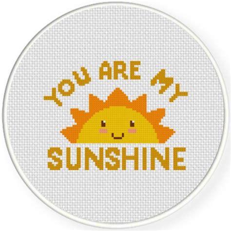 cross stitch pattern you are my sunshine charts club members only you are my sunshine cross stitch
