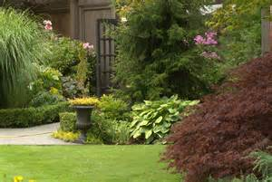 garden in august in a garden