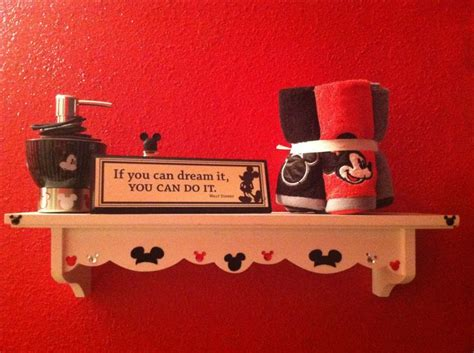 Mickey Mouse Bathroom White Shelf I Embellished With Mickey Mouse Scrapbook