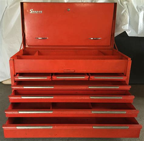 vintage snap on tool chests vintage snap on tool box chest 7 drawers red model kra