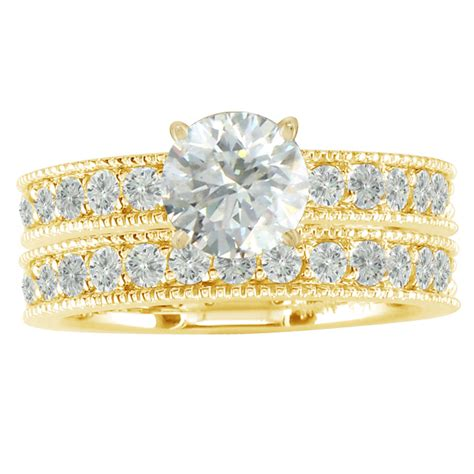 bridal sets yellow gold bridal sets wedding rings