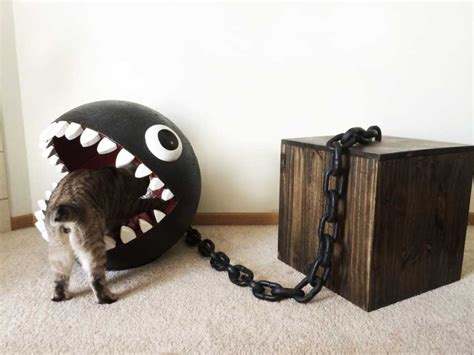 bed for cats chain chomp cat bed catastrophic creations