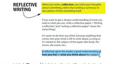 Tips On Writing A Reflective Essay by Writing A Reflection