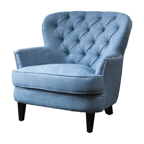Upholstered Chair by House Of Hton Greene Tufted Upholstered Club Chair