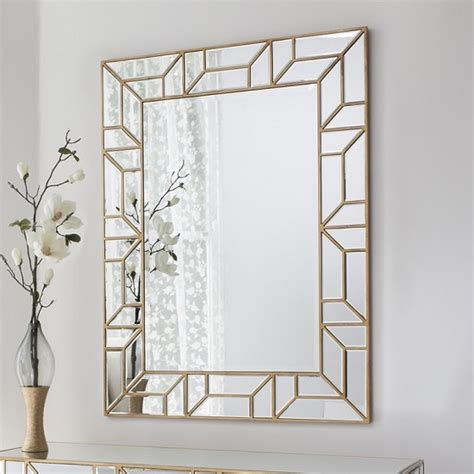Z Gallerie Dining Room by Dresden Decorative Wall Mirror Rectangular In Painted Gold