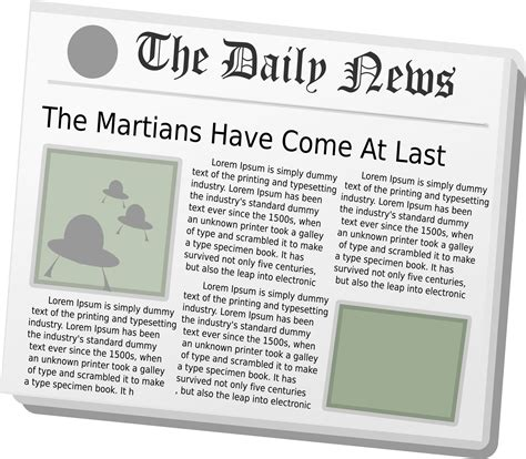 newspaper clipart clipart daily news aliens