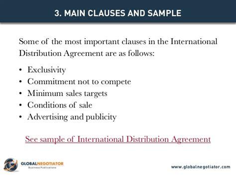 international distribution agreement template international distribution agreement template