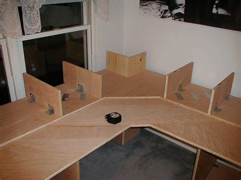 diy corner desk plans the diy multi level desk by unsat rbd desk in 2019 desk woodworking desk plans hobby desk