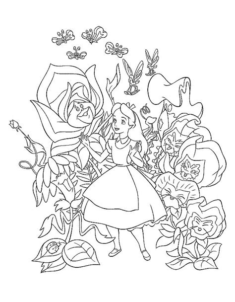 alice in wonderland coloring pages coloringpages1001 com