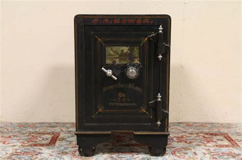 sold barnes pittsburgh  antique iron safe harp gallery