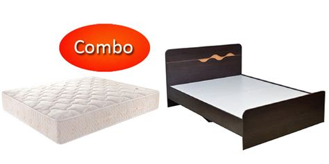 Size Bed And Mattress Combo by Combo Offer Bed Free With Mattress Dreamline Size Bonnell Mattress With Swirl