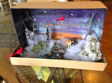 shoe box craft projects wonderful shoe box diorama crafts