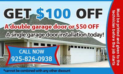 Garage Door Repair Coupons Garage Door Repair Martinez Ca 925 826 0938 Call Now