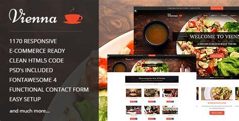 Vienna V1 4 Responsive Restaurant Template Free Download Free After Effects Template Free Restaurant Website Templates Responsive