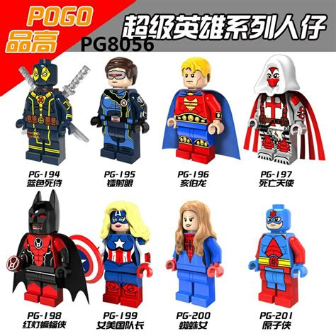 Atom Pg201 Dc Heroes Brick Minifigure Pg8056 downtheblocks pogo pg8056 various dc and marvel minifigs with cyclops azrael atom and more