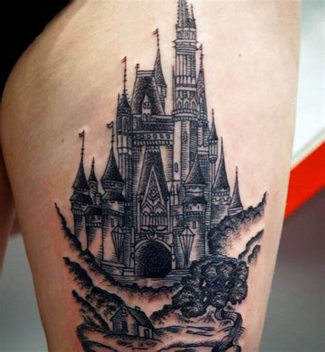 disney castle tattoo 33 exquisite disney castle designs tattooblend