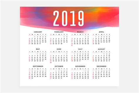 calendar layout concept design   vector